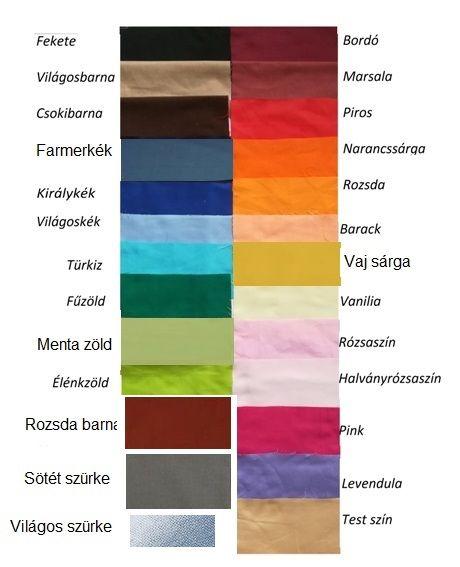 Pamut párnahuzat egyszínű 70x90cm (választható színekkel)