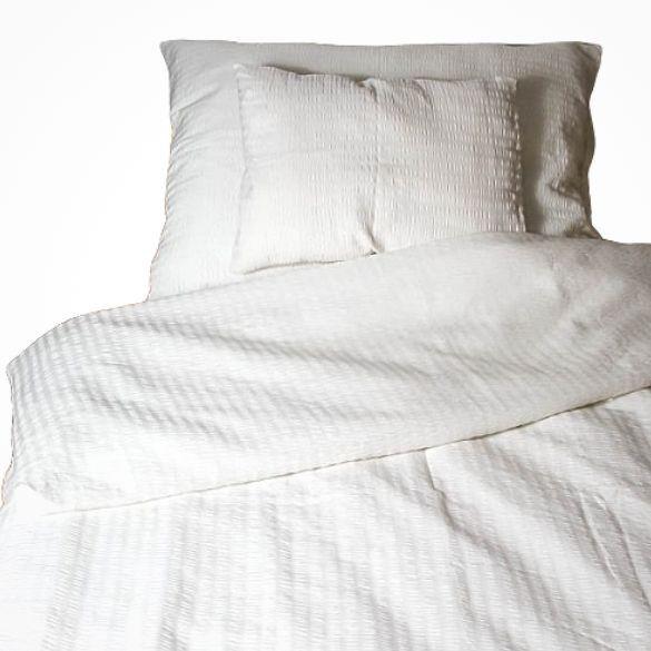 3 részes pamut krepp ágyneműhuzat garnitúra fehér