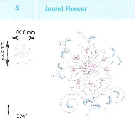 Ékszer virág hímzés