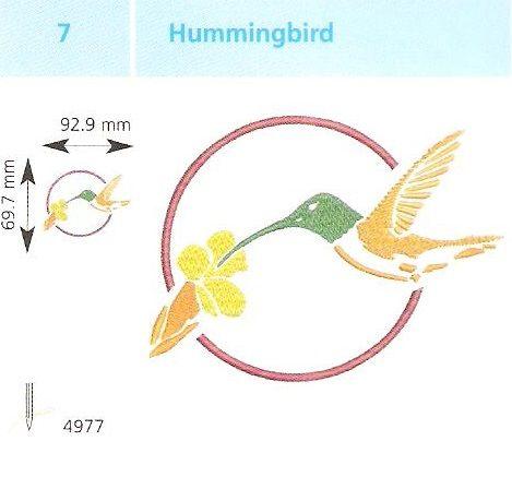 Kolibri hímzés