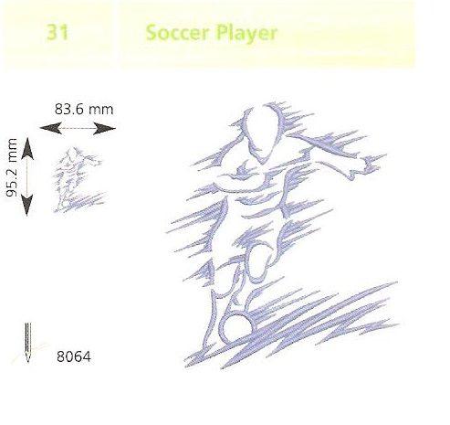 Futballista hímzés