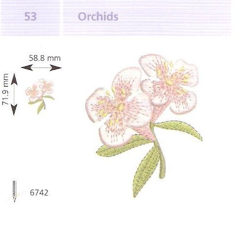 Orchidea hímzés
