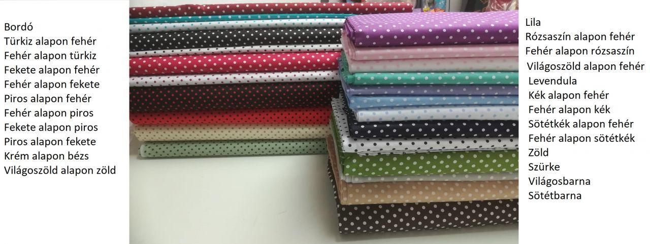 Pamut vászon anyag pöttyös borsó (választható színek) a4e150794d