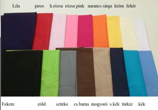 Pamut szatén anyag egyszínű (választható színek) 01f63385e9
