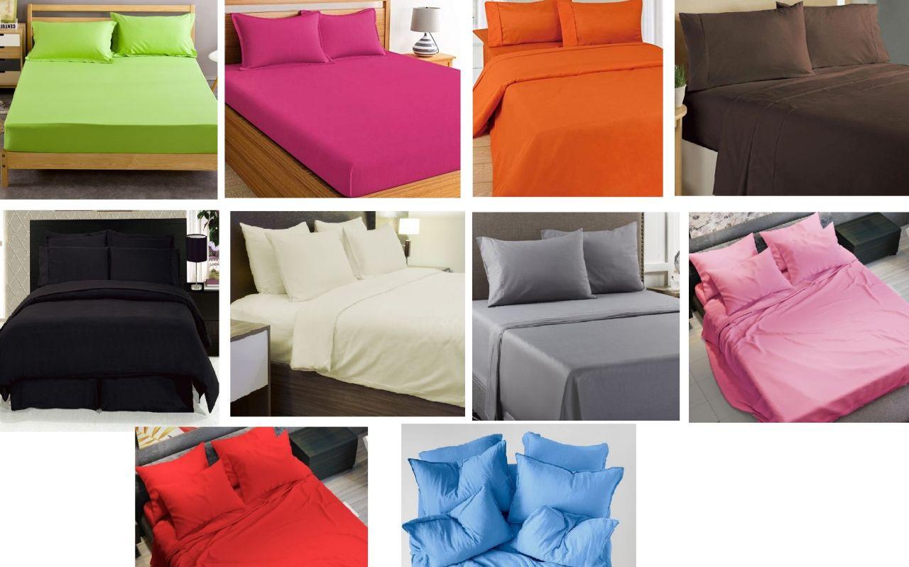 5 részes pamut - szatén ágyneműhuzat garnitúra egyszínű (választható színek)