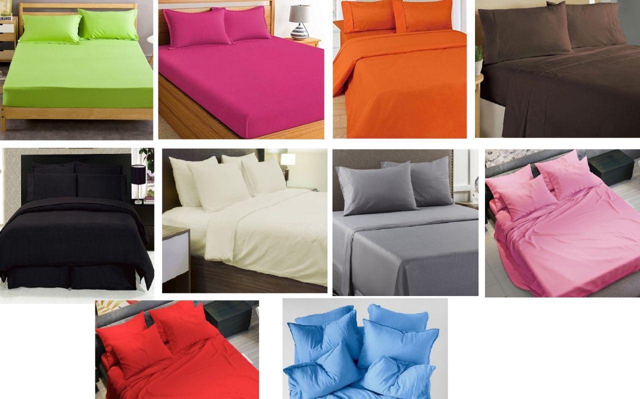 3 részes pamut - szatén ágyneműhuzat garnitúra egyszínű (választható színek)