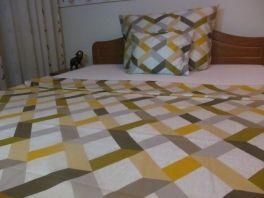 Pamut szatén paplanhuzat 140x200cm 5023 sárga