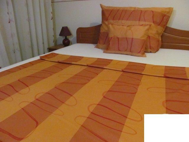 Pamut - szatén dupla paplanhuzat 200x220cm 5022 narancs