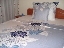 Pamut - szatén dupla paplanhuzat 200x220cm 5017 kék