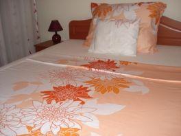 Pamut - szatén dupla paplanhuzat 200x220cm 5017 narancs
