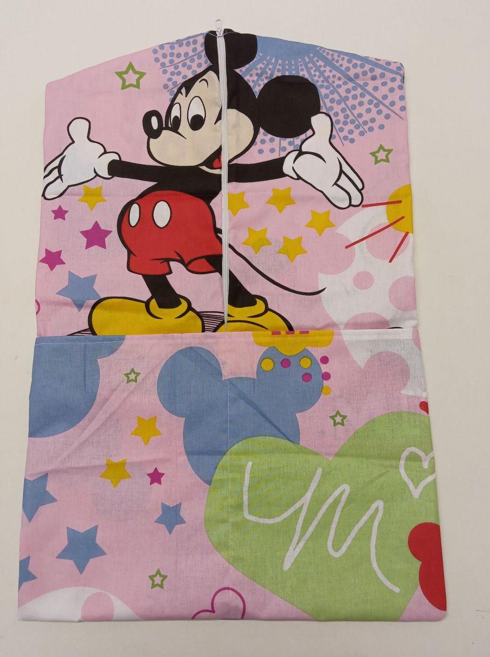 Oviszsák pamut Mickey egér rózsaszín